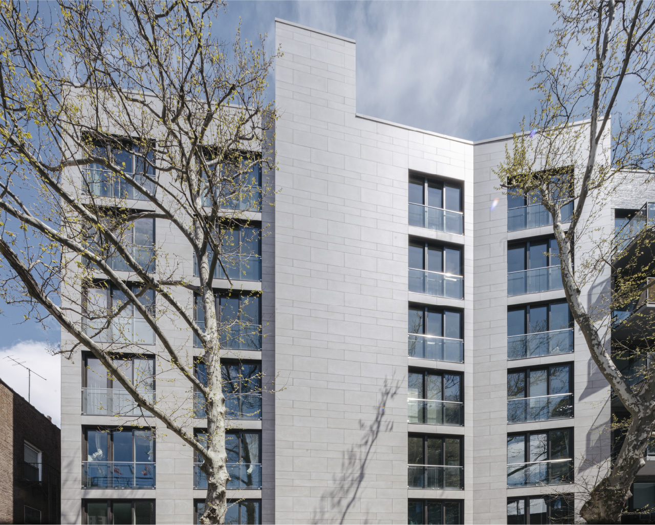 15 East 19 Street Porcelain cladding with mitered corners