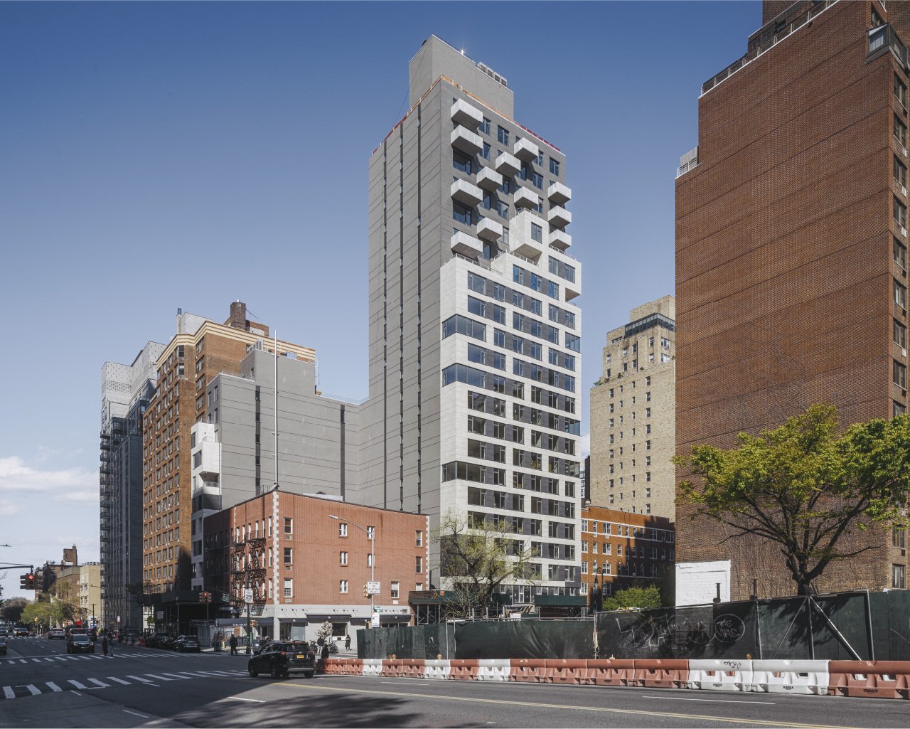 511 East 86 Street Tower with large format porcelain panel facade
