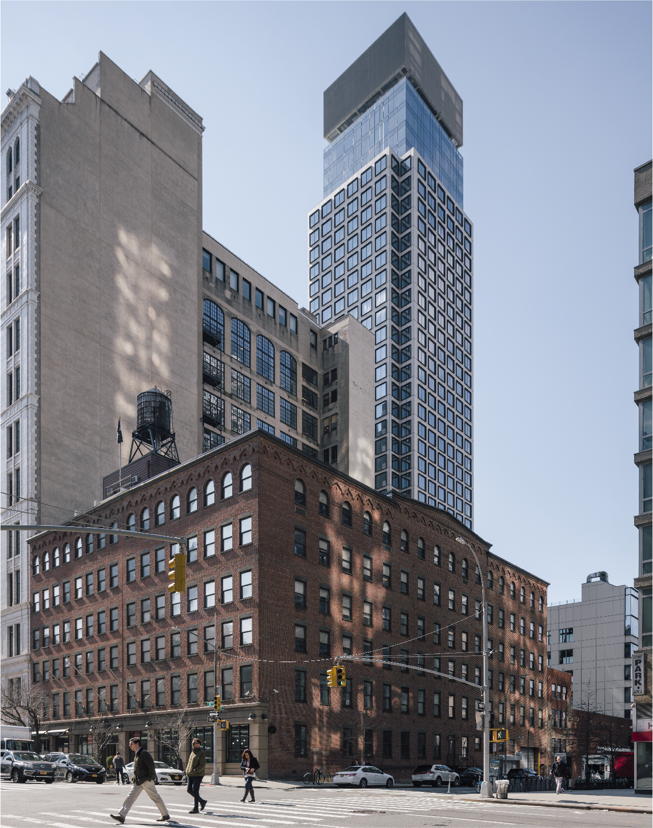 West 36 Street High rise with porcelain cladding accents