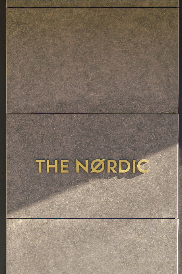 The Nordic Company branding on porcelain facade